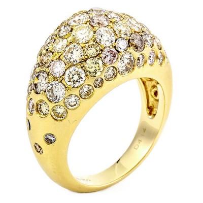 18K Yellow Gold Fancy Diamond Band