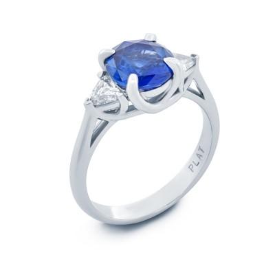 Platinum Sapphire Ring