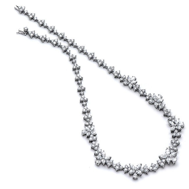 Platinum White Diamond Necklace