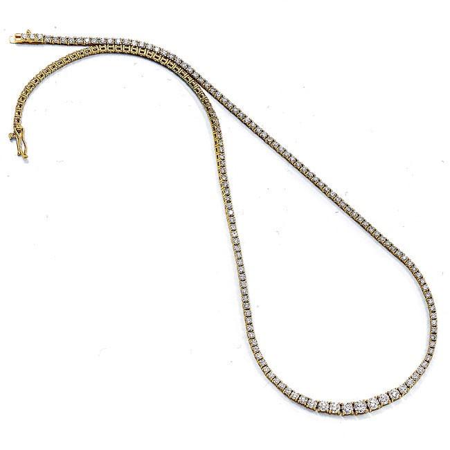 18K Yellow Gold Diamond Tennis Bracelet