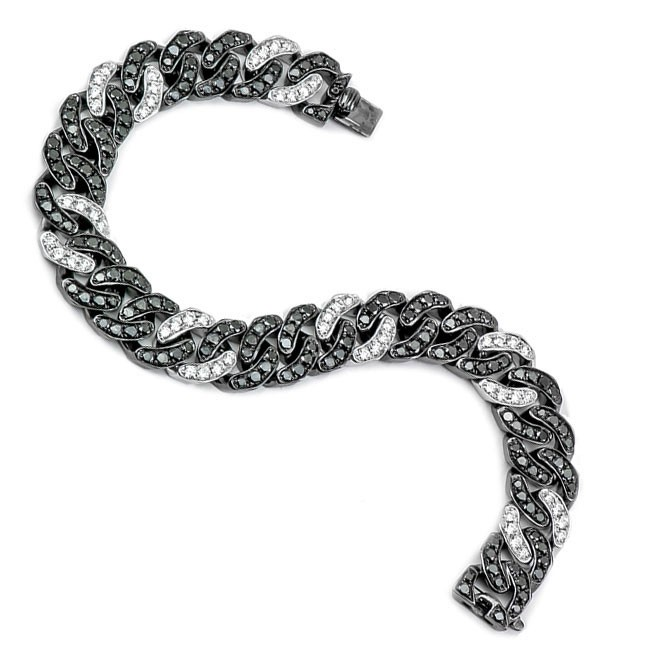 18K White Gold Black Diamond Bracelet