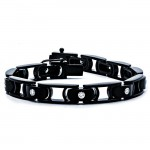 18K Black Rhodium Diamond Men's Bracelet