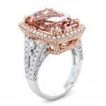 18K Two-tone Gold Morganite Band