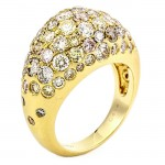 18K Yellow Gold Fancy Diamond Band