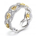 18K White Gold Fancy Diamond Band