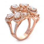 18K Rose Gold Fancy Diamond Band