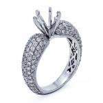 18K White Gold Semi-Mount for a 1.50ct Round center