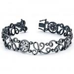 18K Black Rhodium Diamond Bracelet