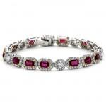 18K Two-tone Ruby Bracelet