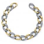 18K Two-tone Gold Diamond Bracelet