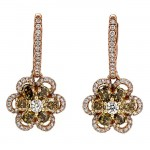 18K Rose Gold Fancy Diamond Earrings