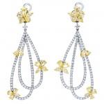 18K Two-tone Gold Yellow Earrings