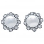 18K White Gold Pearl Studs