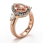 18K Rose Gold Fancy Diamond Ring