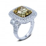 18K TWo-tone Gold Bi-Color Tourmaline Ring