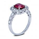 18K White Gold Ruby Ring