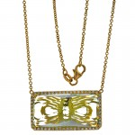 18K Yellow Gold Lemon Quartz Necklace