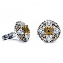 18K Two-tone Gold Fancy Diamond Cufflinks