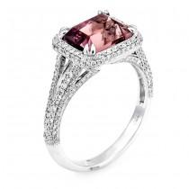 18K White Gold Pink Tourmaline Ring