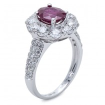18K White Gold Ruby Ring