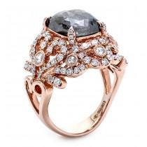 18K Rose Gold Fancy Grey Diamond Ring