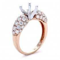 18K Rose Gold Semi-Mount for a 1.00ct Round Center