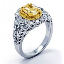 18K Two-tone Gold Diamond Ring