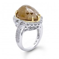 18K Two-Tone Gold Rustic Fancy Diamond Ring