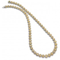 18K Two-tone Gold Yellow Diamond Necklace