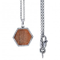 14K Two-tone Diamond Necklace