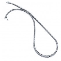 18K White Gold Diamond Tennis Necklace