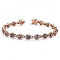 18K Rose Gold Brown Diamond Bracelet