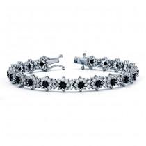 18K White Gold Black Diamond Bracelet