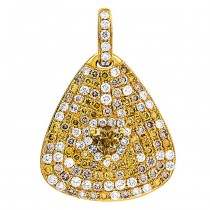 18K Yellow Gold Yellow Diamond Pendant