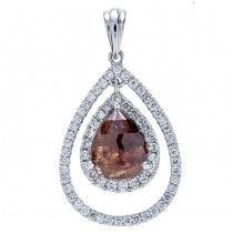 18K White Gold Fancy Diamond Pendant