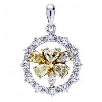 18K Two-tone Gold Fancy Diamond Pendant
