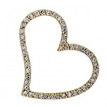 18K Yellow Gold Diamond Heart Pendant