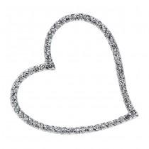 18K White Gold Diamond Heart Pendant