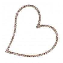 18K Rose Gold Diamond Heart Pendant