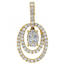 18K Yellow Gold Diamond Pendant