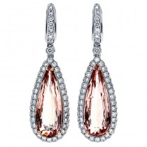 18K Two-tone Gold Morganite Earrings