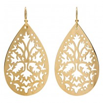 18K Yellow Gold Floral Cutout