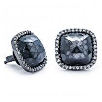 18K Black Rhodium Black Diamond Studs