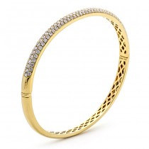18K Yellow Gold Diamond Bangle