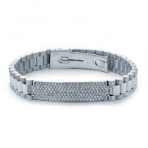 18K White Gold Diamond Men's Bracelet