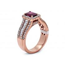 18K Rose Gold Ruby Ring