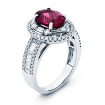 18K White Gold Rubelite Ring