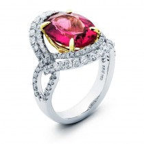 18K Two-tone Rubelite Ring