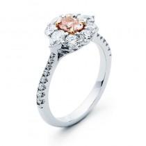 18K Two-tone Pink Diamond Ring