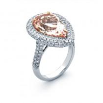18K Two-tone Gold Morganite Ring